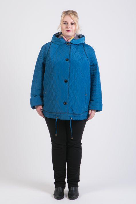 Демисезонная куртка из стежки, цвет бирюзовый в интернет-магазине Фабрики Тревери