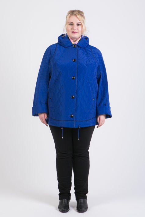 Демисезонная куртка из стежки, цвет голубой в интернет-магазине Фабрики Тревери