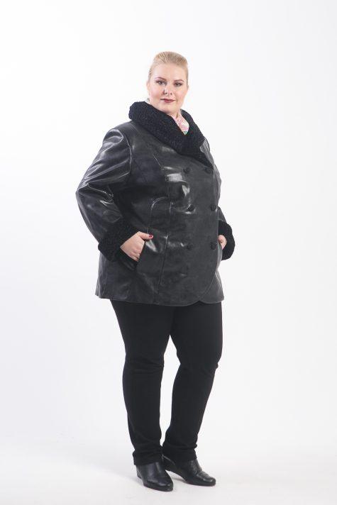 Демисезонное короткое пальто, цвет черный в интернет-магазине Фабрики Тревери