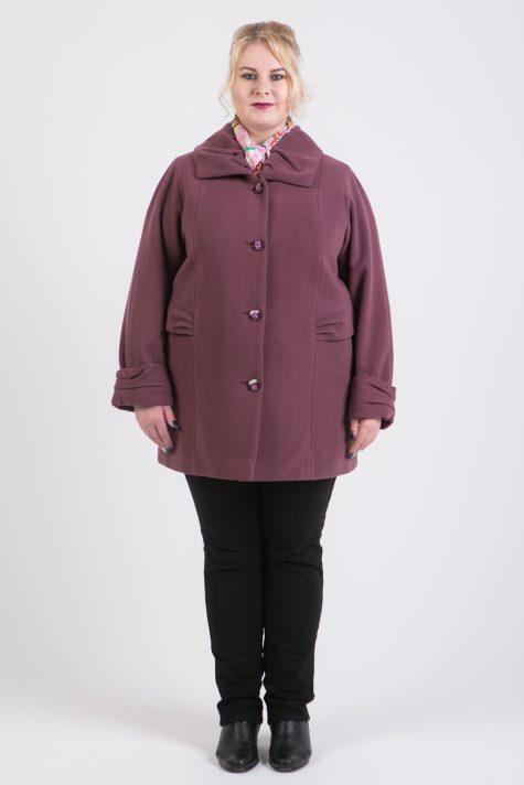 Демисезонное пальто из драпа, цвет светло-розовый в интернет-магазине Фабрики Тревери