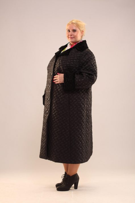 Длинное демисезонное пальто, цвет черный в интернет-магазине Фабрики Тревери
