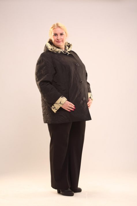 Двухсторонняя деми куртка, цвет черный в интернет-магазине Фабрики Тревери