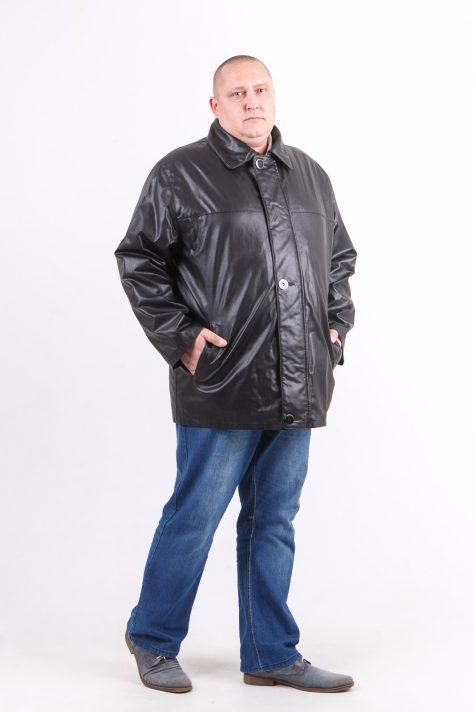 Классическая куртка из эко-кожи, цвет черный в интернет-магазине Фабрики Тревери