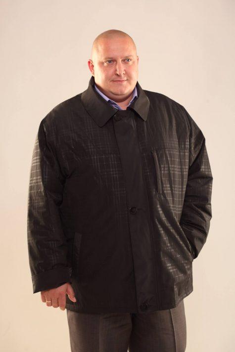 Классическая куртка на молнии с пластроном, цвет черный в интернет-магазине Фабрики Тревери