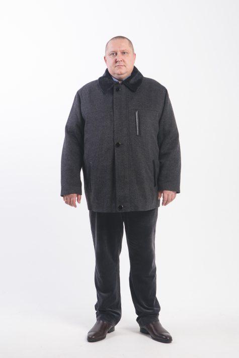 Классическая куртка с меховым воротником, цвет черный в интернет-магазине Фабрики Тревери