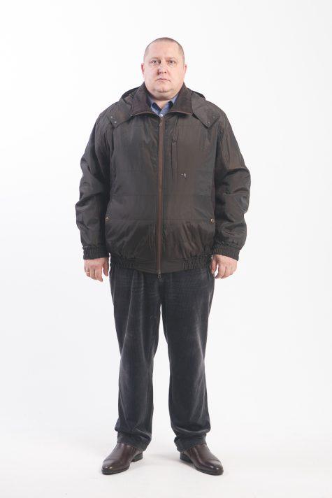 Комбинированная куртка Пилот с капюшоном, цвет коричневый в интернет-магазине Фабрики Тревери