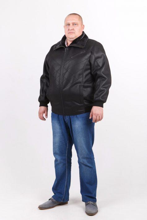 Короткая дубленка на резинке, цвет черный в интернет-магазине Фабрики Тревери