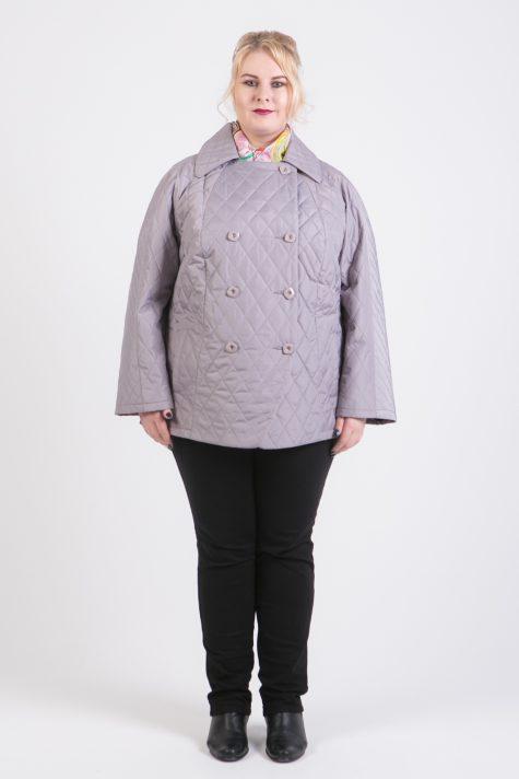 Короткая стеганая куртка, цвет серый в интернет-магазине Фабрики Тревери