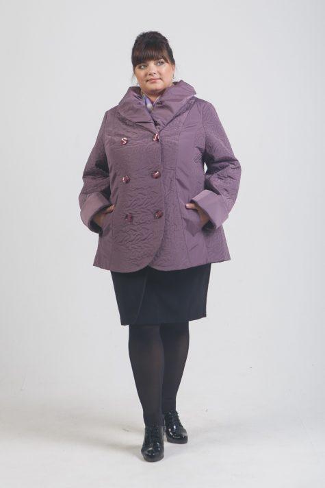Короткое пальто из стежки, цвет сиреневый в интернет-магазине Фабрики Тревери