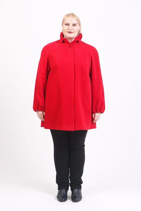 Короткое пальто со стойкой, цвет красный в интернет-магазине Фабрики Тревери