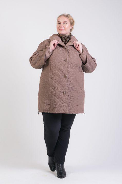 Короткое пальто трансформер с подстежкой, цвет коричневый в интернет-магазине Фабрики Тревери