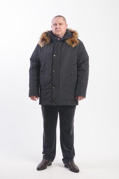 Куртка Аляска с опушкой из енота, цвет черный в интернет-магазине Фабрики Тревери