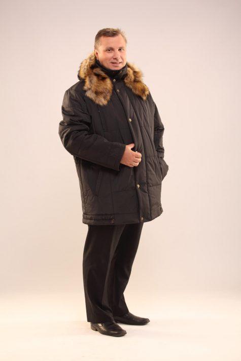 Куртка Аляска с опушкой из енота, цвет темно-зеленый в интернет-магазине Фабрики Тревери