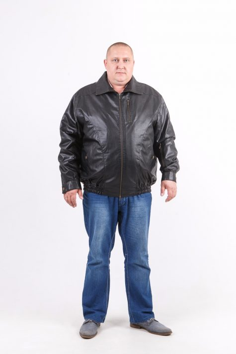 Куртка из экокожи на молнии, цвет черный в интернет-магазине Фабрики Тревери