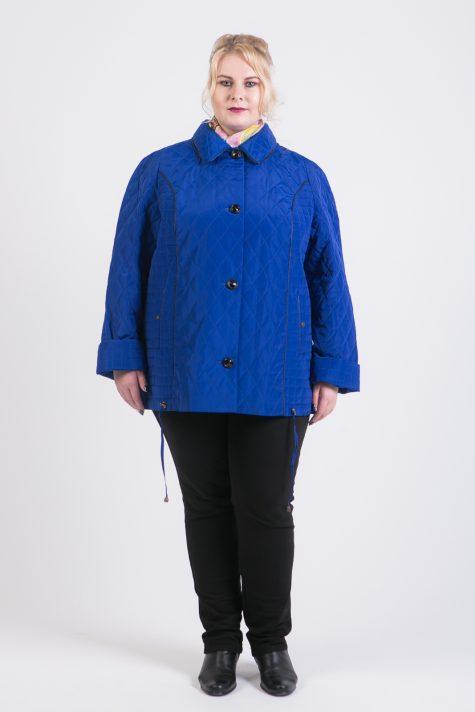 Куртка из стежки с капюшоном, цвет голубой в интернет-магазине Фабрики Тревери