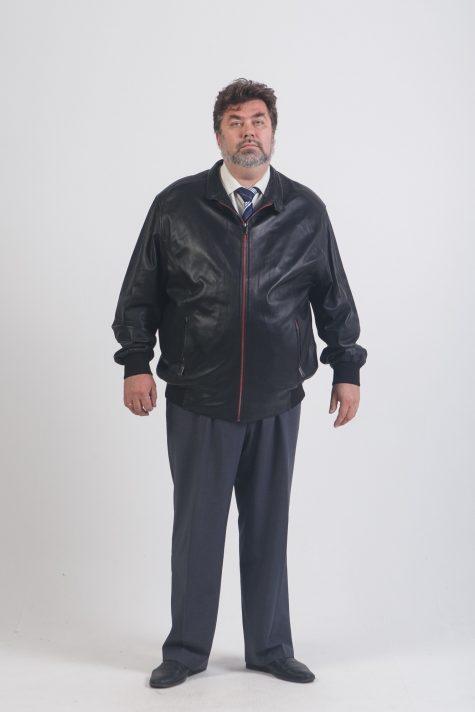 Куртка Пилот из натуральной кожи, цвет черный в интернет-магазине Фабрики Тревери