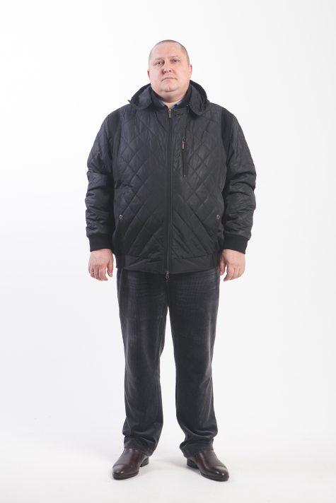Куртка Пилот с капюшоном, цвет черный в интернет-магазине Фабрики Тревери
