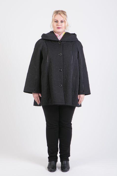 Куртка трапеция из стежки, цвет черный в интернет-магазине Фабрики Тревери