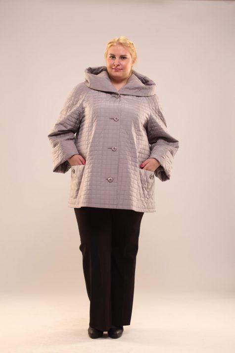 Куртка трапеция из стежки, цвет серый в интернет-магазине Фабрики Тревери