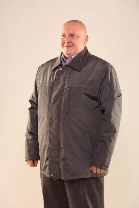Мужская утепленная куртка на молнии, цвет серый в интернет-магазине Фабрики Тревери
