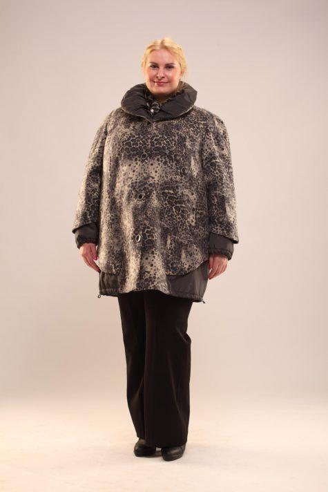 Пальто-куртка с подстежкой, цвет серый в интернет-магазине Фабрики Тревери