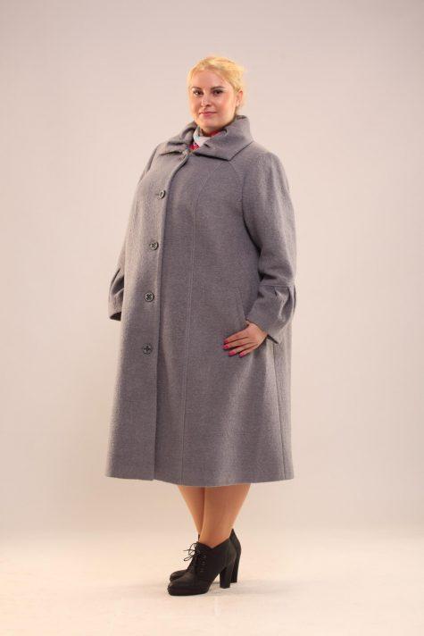 Пальто трапеция из драпа, цвет серый в интернет-магазине Фабрики Тревери
