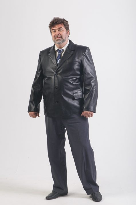 Пиджак из натуральной кожи, цвет черный в интернет-магазине Фабрики Тревери