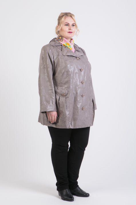 Плащ с английским воротником, цвет серый в интернет-магазине Фабрики Тревери