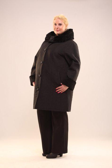 Прямое пальто с капюшоном, цвет черный в интернет-магазине Фабрики Тревери
