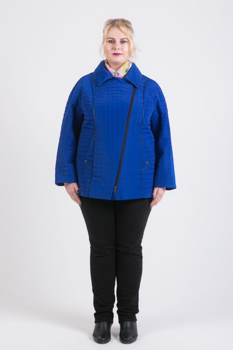 Стеганая кортка-косуха, цвет голубой в интернет-магазине Фабрики Тревери