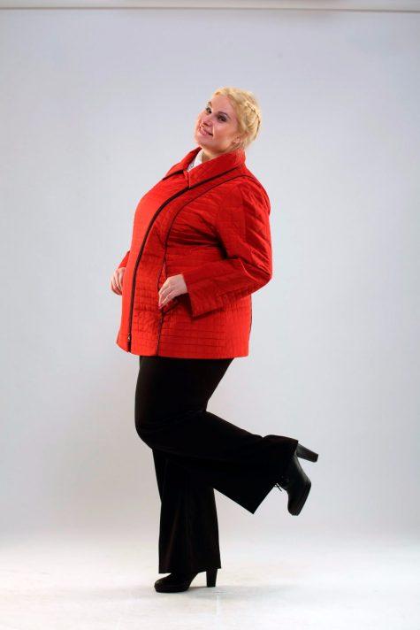 Стеганая кортка-косуха, цвет красный в интернет-магазине Фабрики Тревери