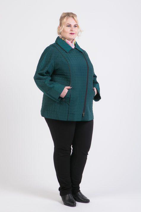 Стеганая кортка-косуха, цвет зеленый в интернет-магазине Фабрики Тревери
