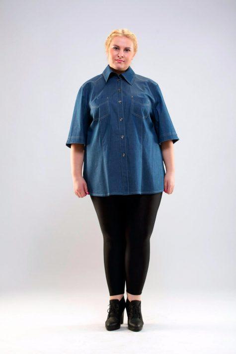 Туника на лето из хлопка, цвет синий в интернет-магазине Фабрики Тревери
