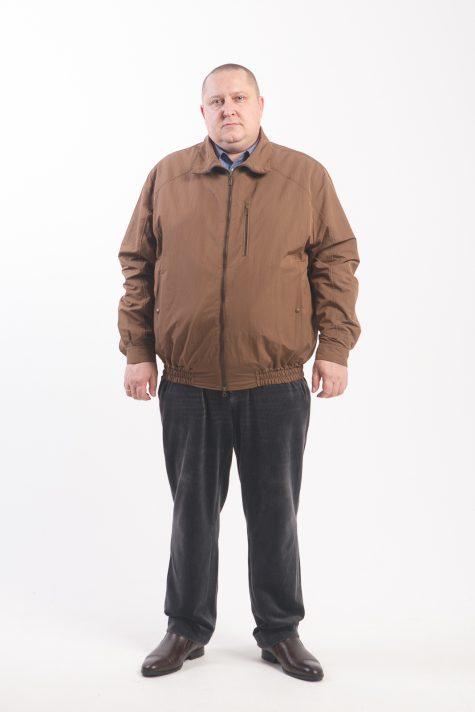 Ветровка из плащевки на молнии, цвет коричневый в интернет-магазине Фабрики Тревери