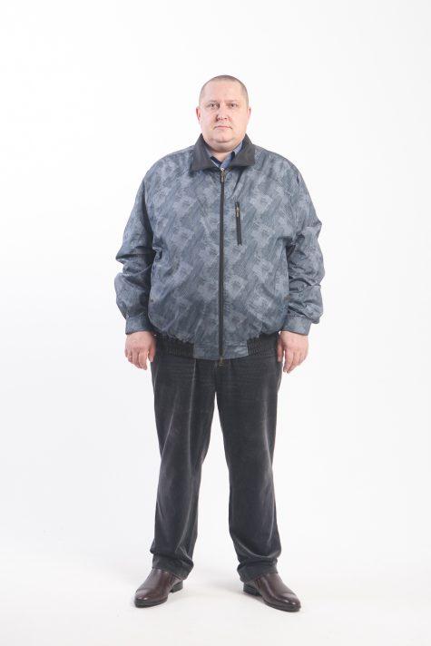 Ветровка из плащевки на молнии, цвет серый в интернет-магазине Фабрики Тревери