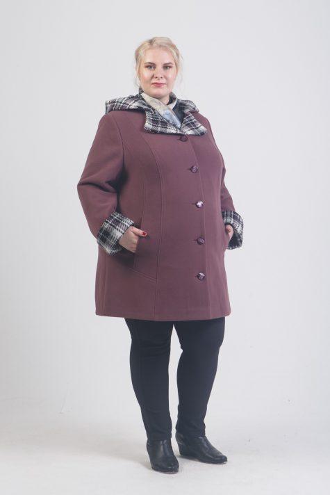 Женское драповое пальто трансформер, цвет светло-розовый в интернет-магазине Фабрики Тревери