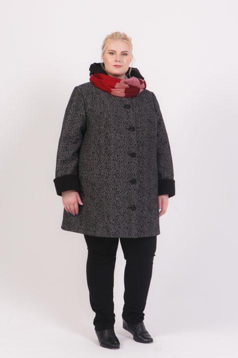 Женское пальто трансформер из твида , цвет серый в интернет-магазине Фабрики Тревери