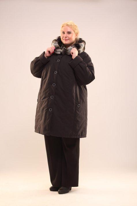 Зимнее пальто со съемной подстежкой, цвет черный в интернет-магазине Фабрики Тревери