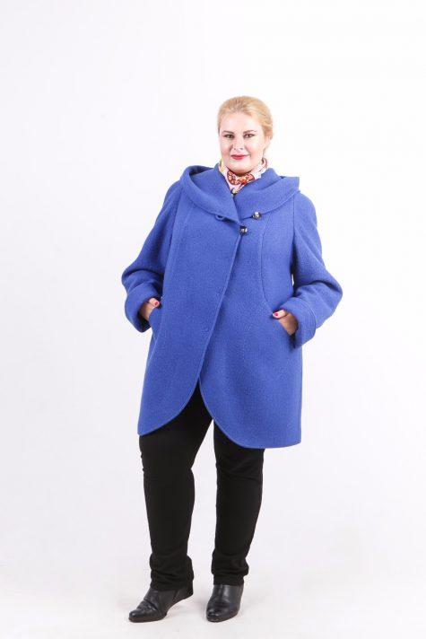 Пальто из драпа варенка, цвет голубой в интернет-магазине Фабрики Тревери