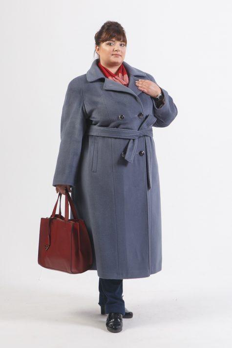 Пальто из шерстяного драпа, цвет серый в интернет-магазине Фабрики Тревери
