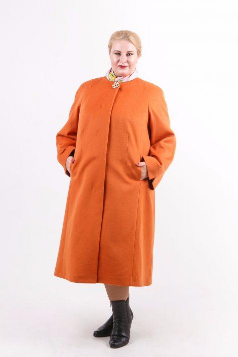 Пальто из шерстяного драпа, цвет рыжий в интернет-магазине Фабрики Тревери