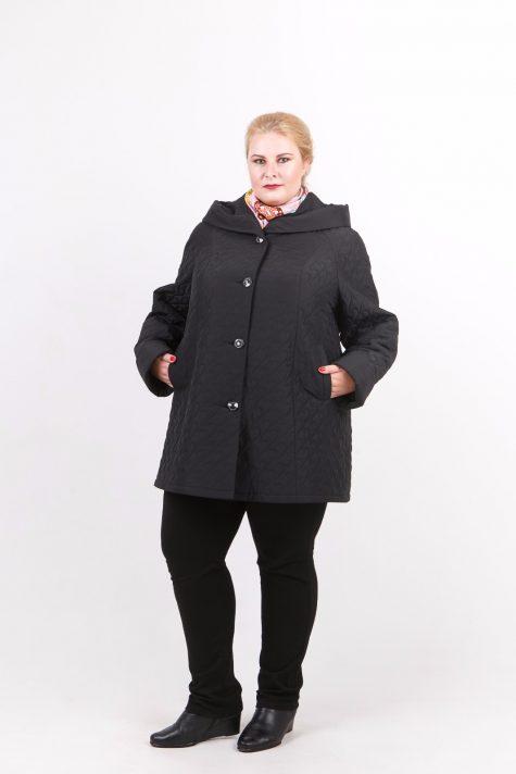 Стеганная куртка трапеция, цвет черный в интернет-магазине Фабрики Тревери