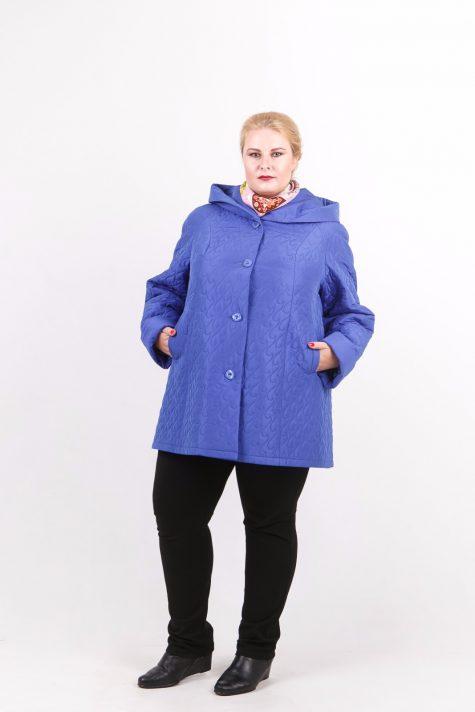 Стеганная куртка трапеция, цвет голубой в интернет-магазине Фабрики Тревери