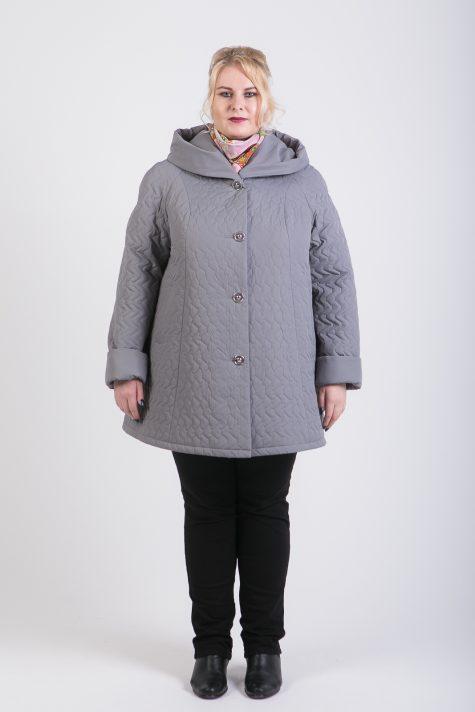 Стеганная куртка трапеция, цвет серый в интернет-магазине Фабрики Тревери