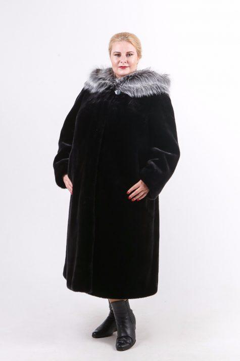 Шуба под норку из меха Тиссавель, цвет черный в интернет-магазине Фабрики Тревери