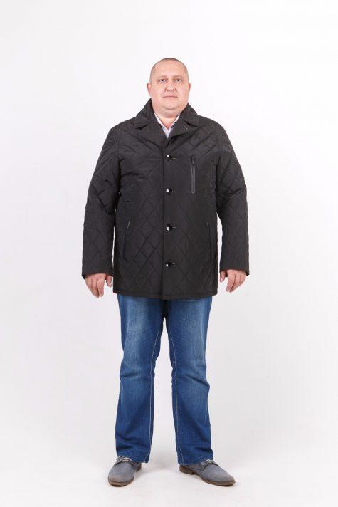 Куртка с воротником из стежки, цвет черный в интернет-магазине Фабрики Тревери