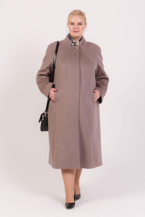 Длинное пальто из 100% шерсти, цвет бежевый в интернет-магазине Фабрики Тревери
