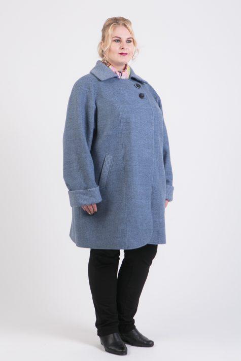 Кэжуал пальто с ассиметричной застежкой, цвет серый в интернет-магазине Фабрики Тревери