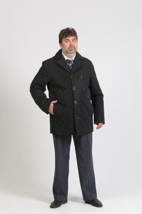 Демисезонная мужская куртка, цвет черный в интернет-магазине Фабрики Тревери