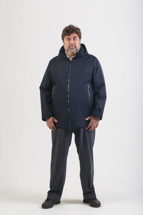 Комбинированная мужская куртка, цвет синий в интернет-магазине Фабрики Тревери